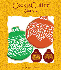 lace band ornament cookie stencil set by designer