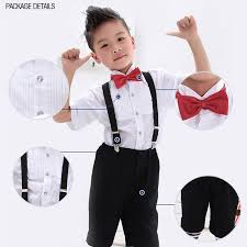 suits set 4pcs lot boys suspenders children clip on adjustable