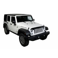 jeep rubicon black putco 670600 wrangler jk hood shield condor black jeep 2007 2018