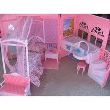 amazon com barbie size dollhouse furniture bed u0026 bath room in a