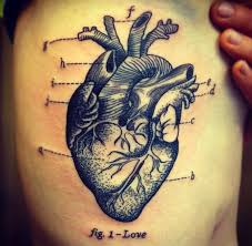 cool idea of heart tattoo on ribs for men tattoos book