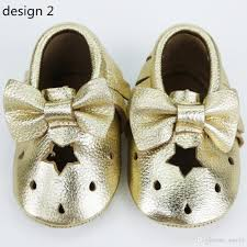 2017 gold bow moccasins cut out moccasins baby moccasin sandals