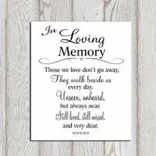 in memory of wedding program in loving memory printable memorial table wedding by dorindaart