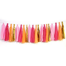 pink garland tissue paper tassel garland regmtme 20pcs party