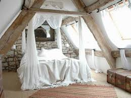 Small Loft Bedroom Decorating Ideas Attic Bedroom Decorating With Small Chandelier And Sofa And Wall