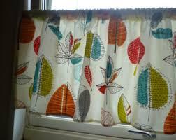 Orange Kitchen Curtains Sale Orange Curtain Etsy