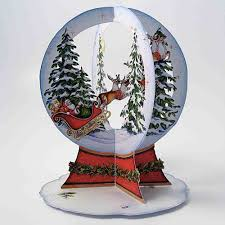 duckling greeting cards 3d laser cut snow globe