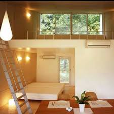japanese interior design for small space with air conditioners and