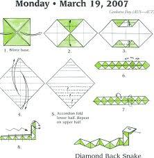 Origami Snake - back snake origami snake origami and
