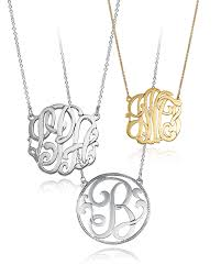 monogram necklaces necklace trend diamond jewelers new jersey nj