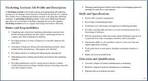 Marketing Analyst Resume Sample Marketing Assistant Job Profile And Description Duties And