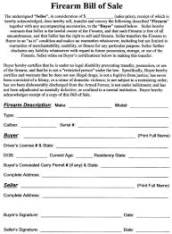 Alberta Vehicle Bill Of Sale Template by Bill Of Sell For A Gun Thebridgesummit Co