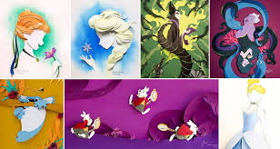 themed paper 10 awesome disney themed paper collages to make you smile