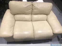 divan canapé salon divan canapé cuir 3 2 places a vendre 2ememain be
