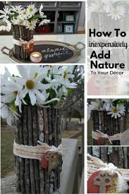 add nature to your decor with a twig flower vase my thrifty house