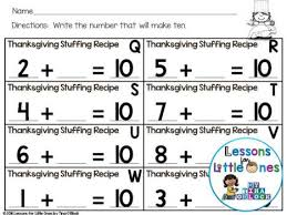 how to set up a meaningful and thanksgiving math center