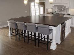 extra large walnut wide plank island wood countertop in a white