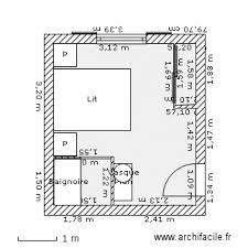 plan chambre a coucher chambre à coucher plan 3 pièces 15 m2 dessiné par castillo