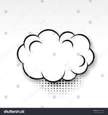 white cloud blank template comics book stock vector 613203047