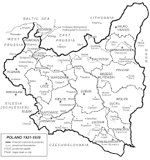 Pr Map Map Of Poland 1921 1929