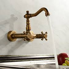 kitchen faucet wall mount antique inspired kitchen faucet wall mount antique brass finish