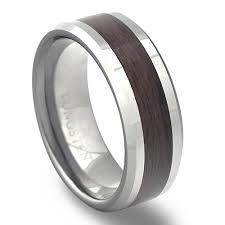 wood inlay wedding band tungsten carbide wood grain inlay wedding ring sale