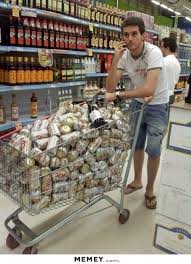 Shopping Cart Meme - a shopping cart full of beer memey com