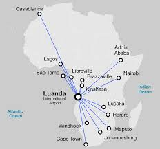 Flight Path Map Luanda Angola International Airport Flight Route And Airlines
