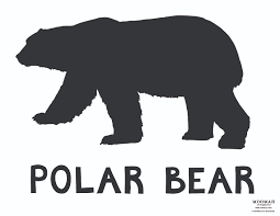 best photos of large polar bear template polar bear silhouette