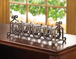 horseshoes u0026 stars candleholder 5 glass candle cups western table