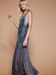 Free People Harlow Maxi Dress In Blue Lyst