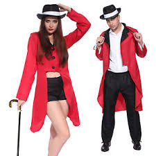 Lion Tamer Halloween Costume Mens Ladies Lion Tamer Circus Ringmaster Costume Carnival Clown