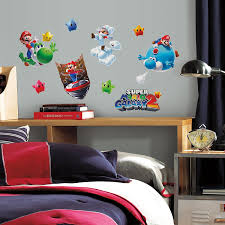 roommates 871scs nintendo mario galaxy 2 peel and stick wall