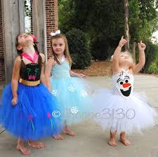 Halloween Costume Elsa Frozen Ana Frozen Inspired Tutu Ana Elsa Olaf Inspired Tutu Costume Dress