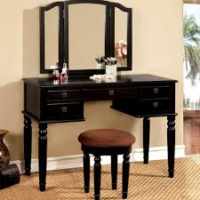 furniture black makeup vanity table modern looking home interior