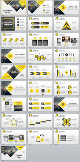 28 best yellow lowpoly business powerpoint template the highest