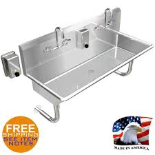 amazon com hand sink industrial multistation 2 wash up basin 48