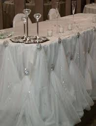 Tulle Decorations Elegant Table Skirts For Weddings Finding Wedding Ideas
