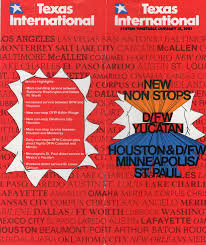 Piedmont Airlines Route Map by Airline Timetables Texas International January 1981