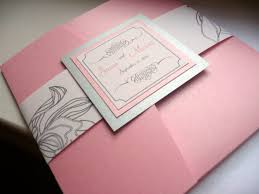 Pocket Invites Pink And Silver Wedding Invitation Silver Pink Silver