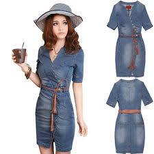 unbranded denim tunic dresses for women ebay