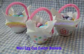 fun craft project for kids make mini egg cup easter baskets