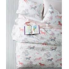 Unicorn Bed Set Enchanted Unicorn Percale Sheets Bedding Set The Company Store