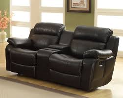 Reclining Sofa With Center Console Homelegance Marille Seat Glider Recliner With Center Console