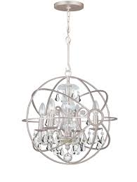 brushed nickel chandelier with crystals lighting elegant crystorama chandelier with white shades for home