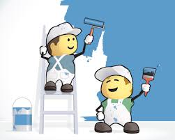 cartoon pictures of painters painting houses at certapro painters