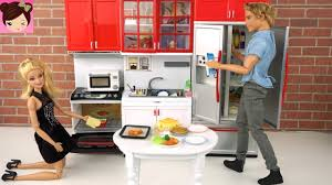 Kitchen Collectibles Playing With Barbie Doll House Kitchen Toys Oven Groceries