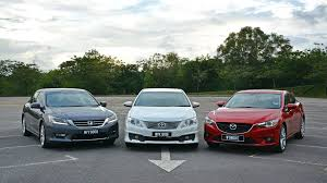 driven 5 toyota camry 2 5 vs honda accord 2 4 vs mazda6 2 5
