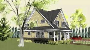 simple craftsman home plan with cottage exterior and front porch