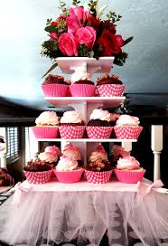 cupcake tower party sparkle pop